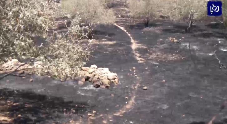 مئات الحرائق خلال الشهر الماضي