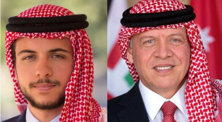 جلالة الملك عبدالله الثاني و سمو الأمير الحسين بن عبدالله الثاني، ولي العهد