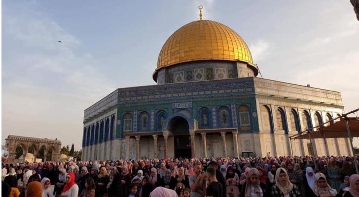 صلاة العيد من المسجد الاقصى المبارك