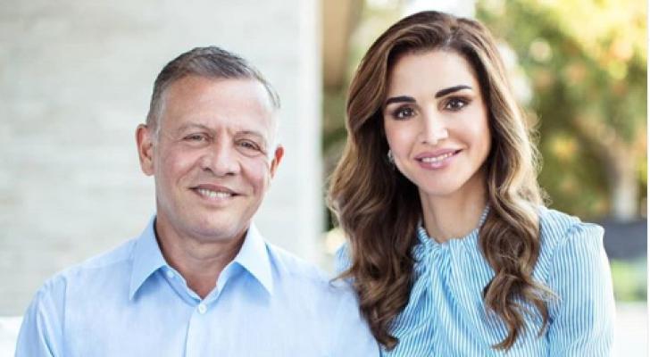 جلالة الملك عبدالله الثاني والملكة رانيا