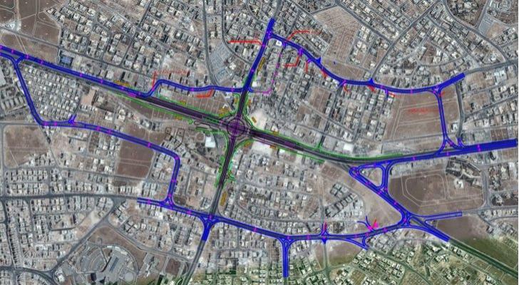 التحويلات المرورية على تقاطع طارق وفق ما اعلنته أمانة عمان