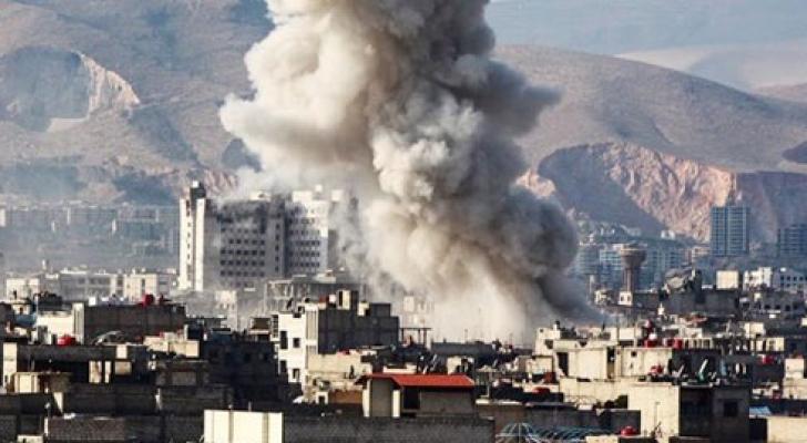 انفجار في دمشق - ارشيفية