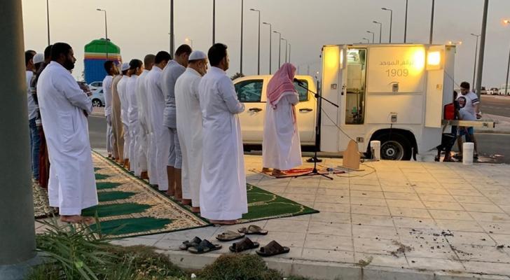 المصليات المتنقلة في مدينة جدة - واس