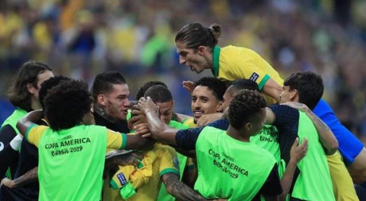 لاعبو المنتخب البرازيلي