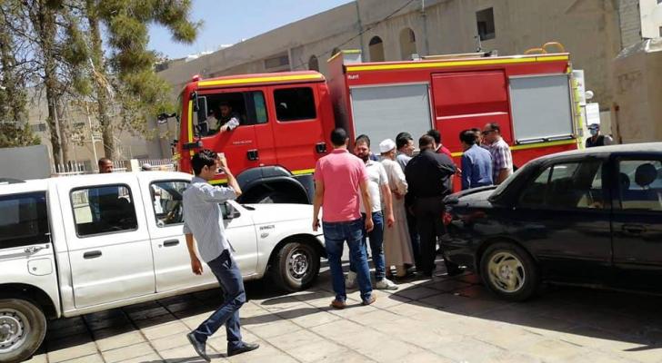 من داخل المستشفى الخاص بمحافظة الكرك حيث وقعت الجريمة المروعة