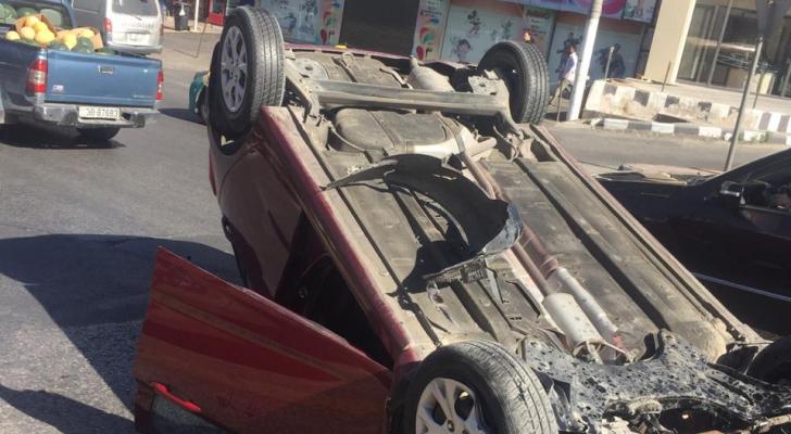نتج عن الحادث إصابة متوسطة