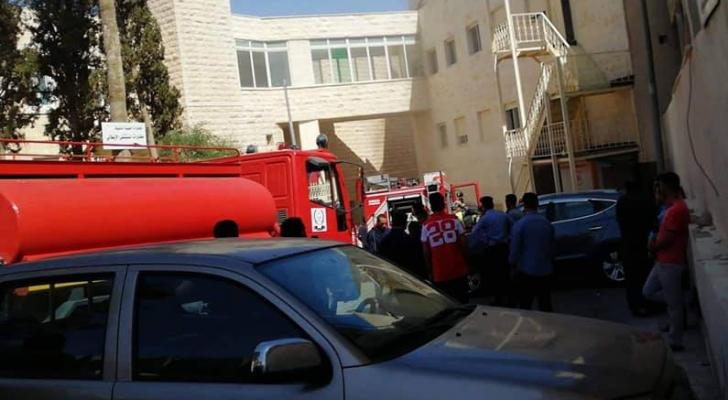 من مكان وقوع الجريمة - داخل مستشفى خاص بمحافظة الكرك