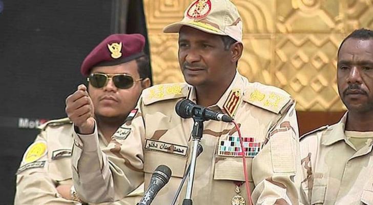 نائب رئيس المجلس العسكري الانتقالي في السودان محمد دقلو
