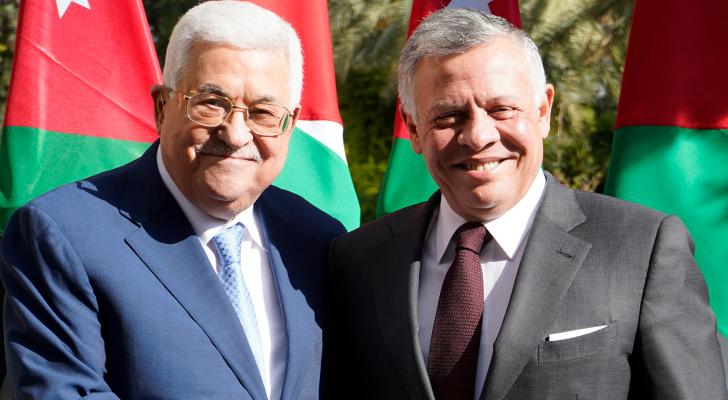 الملك عبدالله الثاني والرئيس الفلسطيني