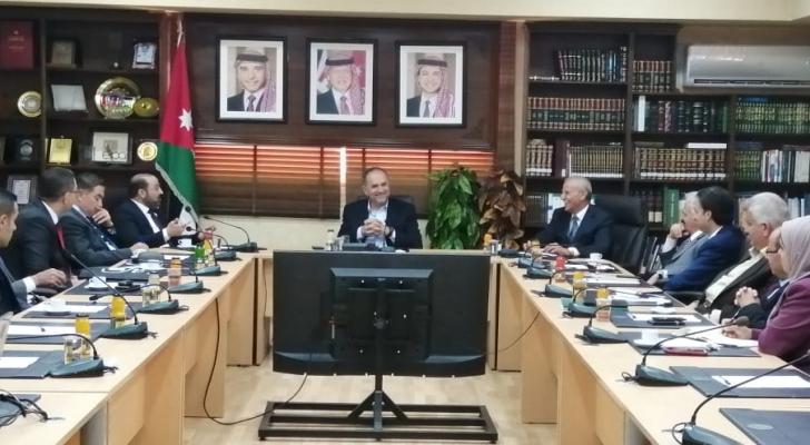 التلهوني يستقبل النائب العام الفلسطيني
