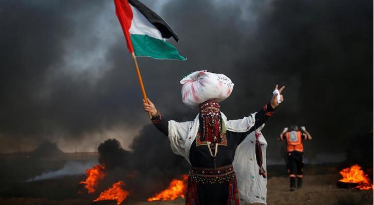 من مسيرات العودة في قطاع غزة