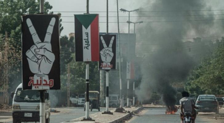 شارع من شوارع مدينة أم درمان في السودان - ا ف ب