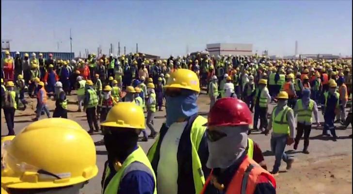 اعتداء على عاملين اردنيين وعرب في كازاخستان