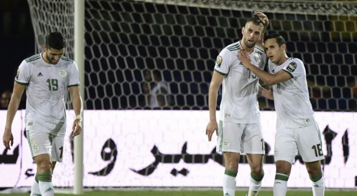لاعبو المنتخب الجزائري
