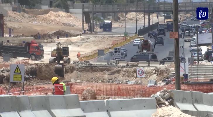 مشروع الباص السريع في منطقة طبربور