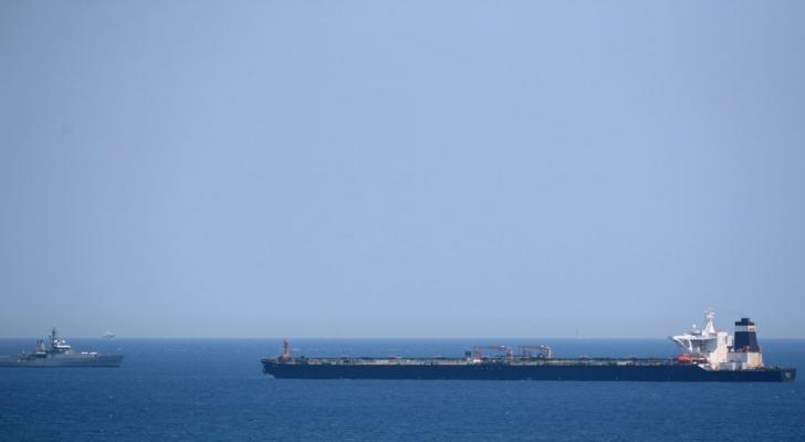 ناقلة النفط غريس 1 المحملة بالنفط الخام إلى سوريا بعد احتجازها قبالة ساحل جبل طارق