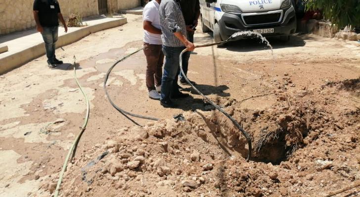 من الحملة التي قامت بها وزارة المياه