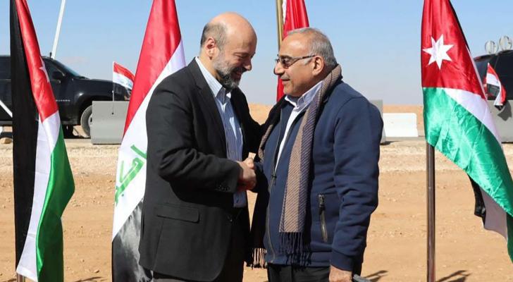 الرزاز ومهدي على الحدود الأردنية العراقية