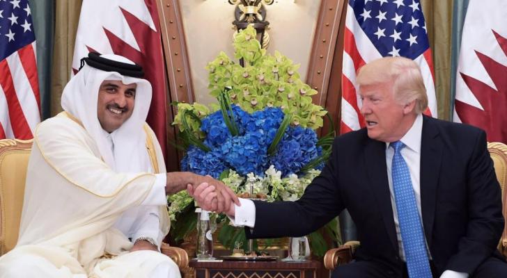 لقاء ترمب وأمير قطر في البيت الأبيض