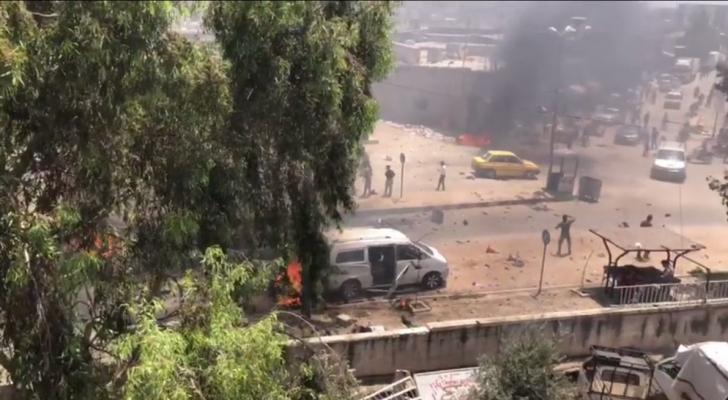تفجير سابق في بلدة عفرين - ارشيفية