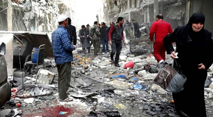 اثار القصف في سوريا- ارشيفية