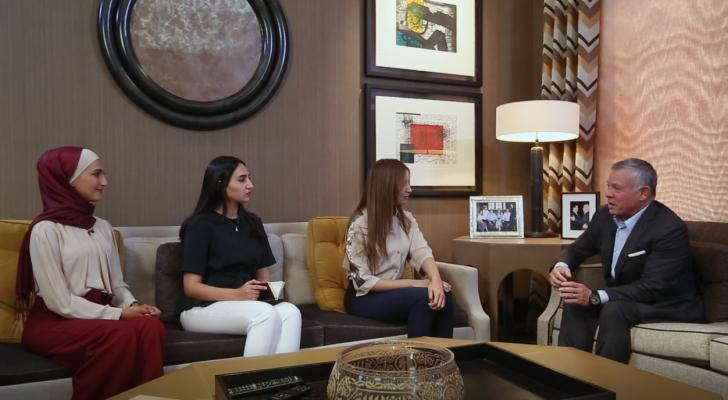 """جان من لقاء الملك مع طالبات من جامعتي """"اليرموك والأردنية"""""""