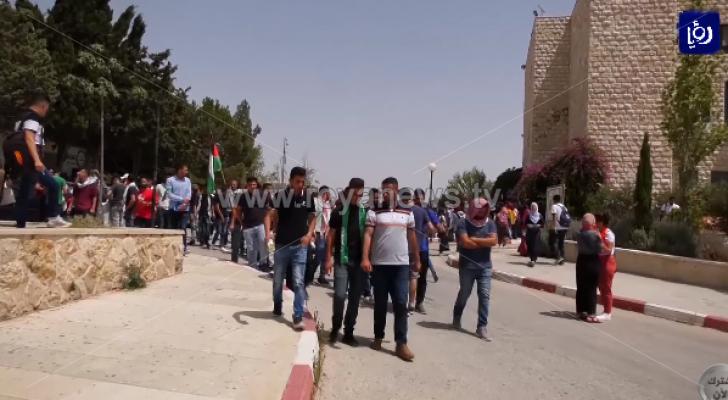 إصابات في مواجهات مع جنود الاحتلال شمال مدينة البيرة