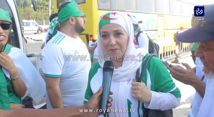 الجماهير الجزائرية قبل مباراة بلادهم مع السنغال