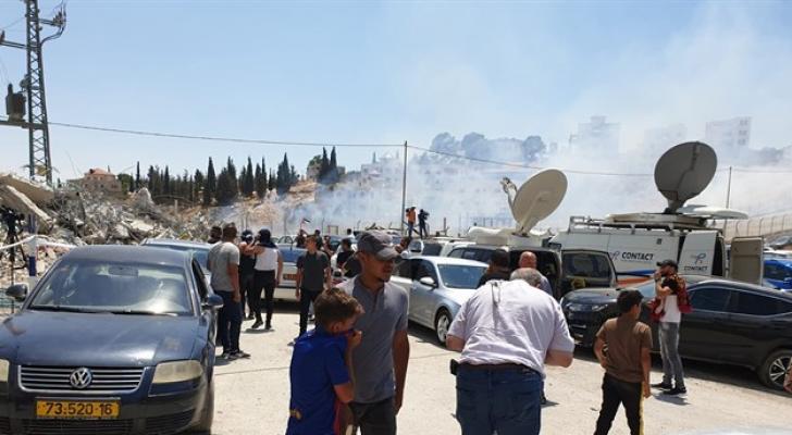 إصابة عشرات الفلسطينيين خلال اقتحام الاحتلال حي واد الحمص بالقدس