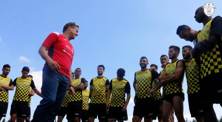 من تدريبات النشامى - اتحاد كرة القدم
