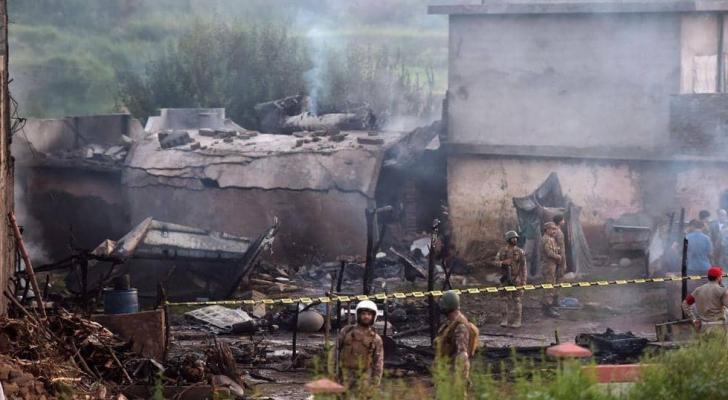 المقاتلة سببت حريقا في روالبندي بعد سقوطها