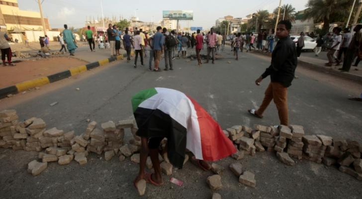 من مظاهرات السودان - أ ف ب