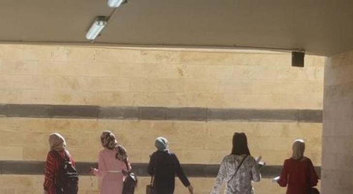 صورة نشرتها أمانة عمان لنفق المشاة أمام الجامعة الأردنية