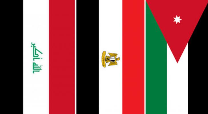 علم الأردن ومصر والعراق