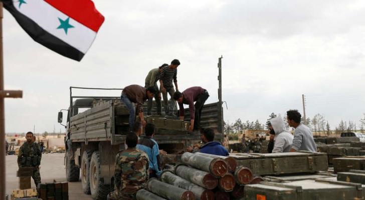 ارشيفية لنقل ذخيرة في سوريا