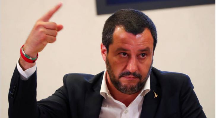 نائب رئيس الوزراء الايطالي ماتيو سالفيني