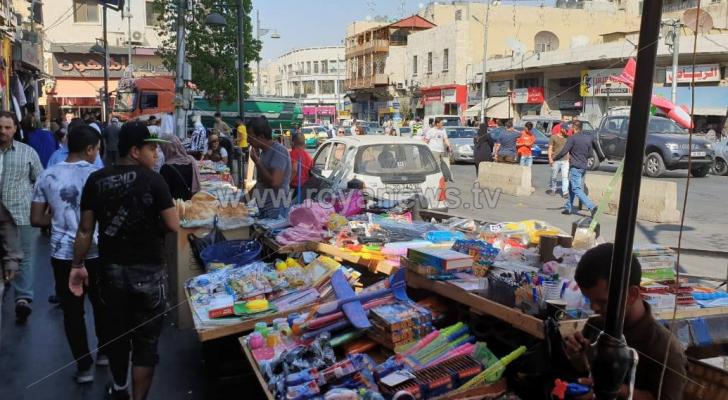 من منطقة وسط البلد في العاصمة عمّان