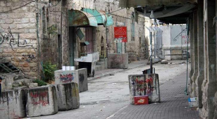 فتح شارع تل الرميدة بالخليل