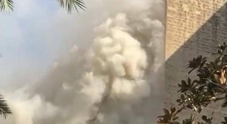 اعمدة الدخان تتصاعد اثر حريق في احد فنادق عمان والدفاع المدني يعلن اخماد الحريق