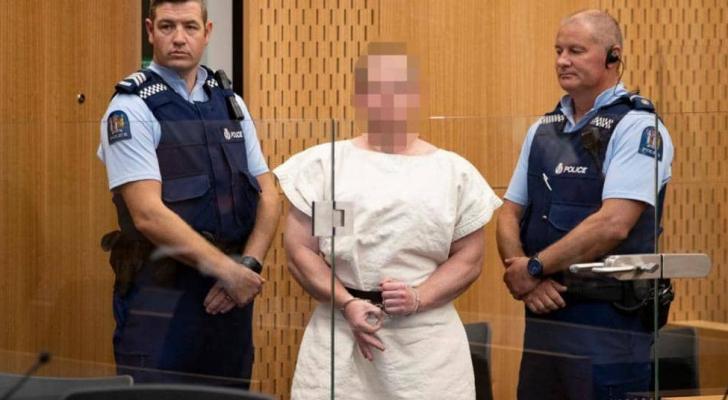 سفاح نيوزيلندا في المحكمة
