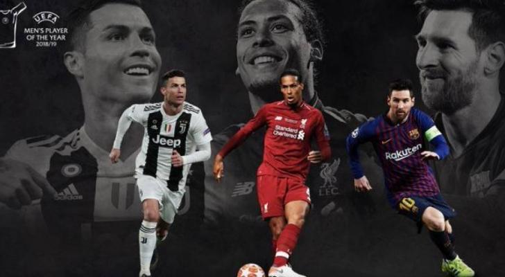 ميسي، رونالدو وفان دايك مرشحون لجائزة أفضل لاعب في أوروبا