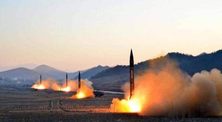 أرشيفية لعمليات إطلاق صواريخ كورية شمالية