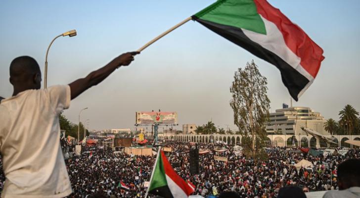 الصورة من الاحتجاجات في السودان - ارشيفية