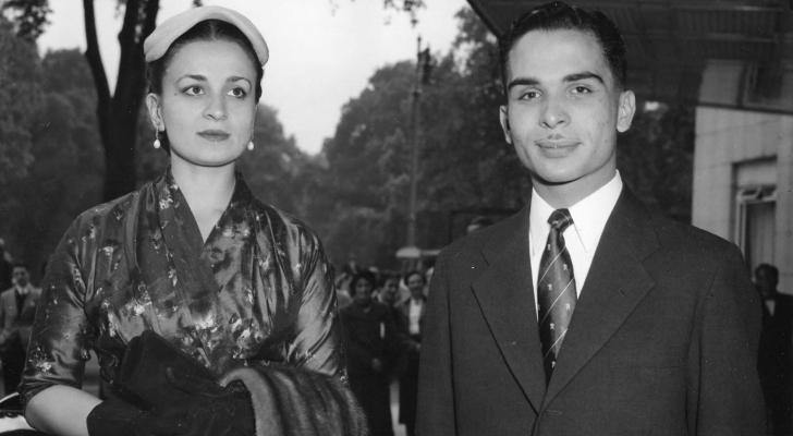 الملك الراحل الحسين بن طلال برفقة الأميرة دينا عبدالحميد - ارشيفية