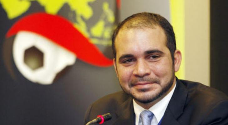 الأمير علي يشيد بقرار رفع الحظر عن الملاعب العراقية