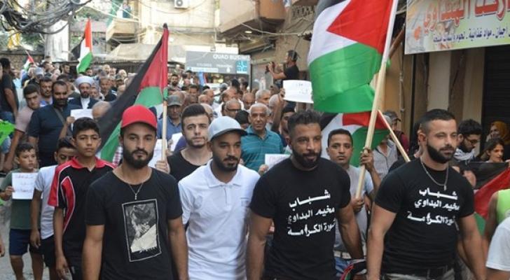 جانب من مظاهرات مخيم البداوي