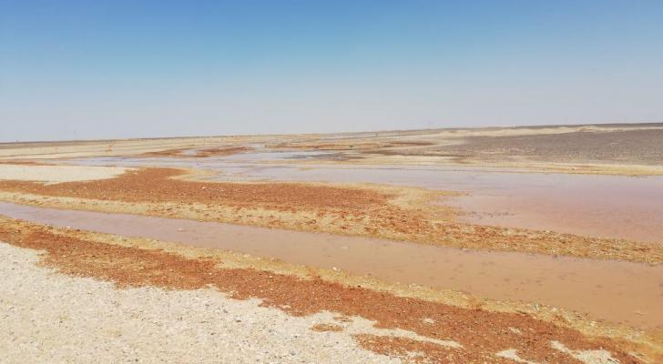 صورة من موقع الاعتداء على خط مياه الديسي