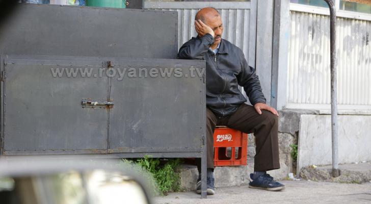 صورة لرجل في وسط البلد بالعاصمة عمان - ارشيفية