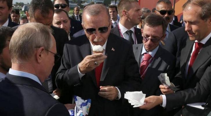 "بوتن وأردوغان يتناولان ""آيس كريم"""