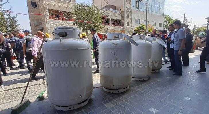من موقع الانفجار بجبل عمان